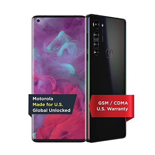 Unlocked Motorola Moto Edge 5G - 256GB - Solar Black - PAJ90004US (Renewed)