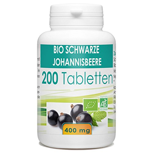 Bio Schwarze Johannisbeere 400mg - 200 Tabletten