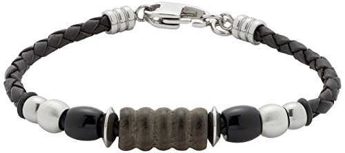 Leonardo Jewels Herren Armband Edelstahl Leder Men 22.0 cm 015407