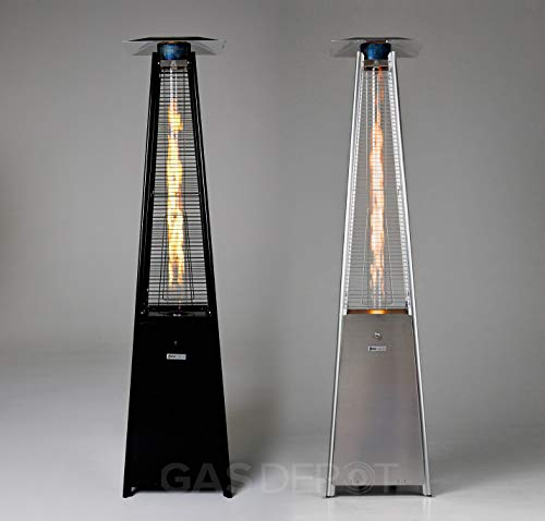 Gasdepot Real Flame Outdoor Pyramid Patio Heater (13KW) - Stainless Steel
