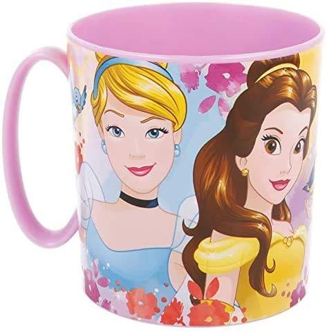 OTRA 3166; Taza Micro Disney Princesas; Princess; Capacidad 350 ml; Producto de plástico, Reutilizable; No BPA.