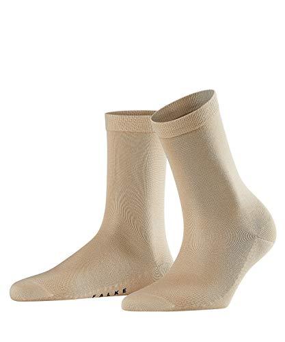 FALKE Damen Socken Sensual Silk - Baumwoll- /Seidegemisch, 1 Paar, Elfenbein (Cream 4011), Größe: 37-38