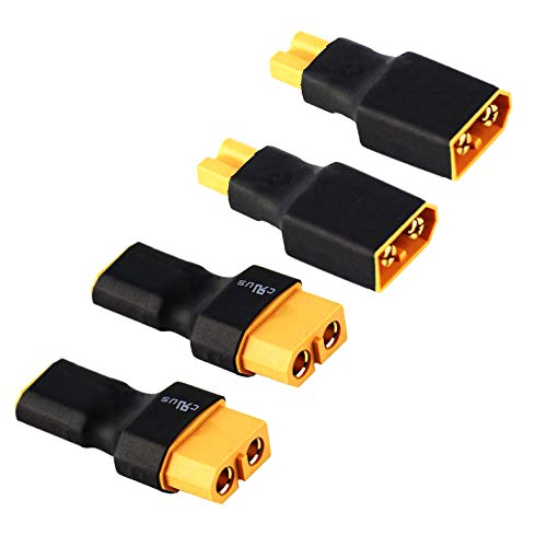 2 Pair ShareGoo No Wires XT30 to XT60 Plug Female Male Adapter Wireless Connector for RC FPV Drone Car Lipo NiMH Battery Charger ESC