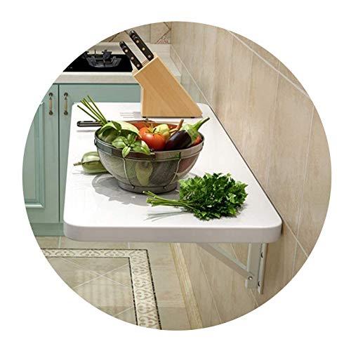 AMDHZ Mesa Plegable Pared Diseño De Arco Escuadras Metalicas Plegable Fuerte Soporte De Carga Mesa De Cocina Encimera Plegable Usado para Cocina Cuarto Escritorio (Color : White, Size : 70x50cm)