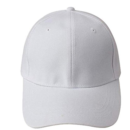 Xinantime Sombrero, Gorra béisbol Blanco Color sólido