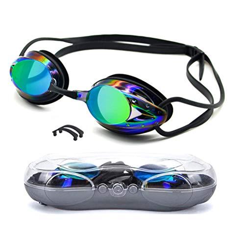 Breale Gafas de natación unisex ajustables, antivaho, protección UV, con espejo, gafas de natación, buceo, deportes acuáticos, para hombres, mujeres, natación, entrenamiento