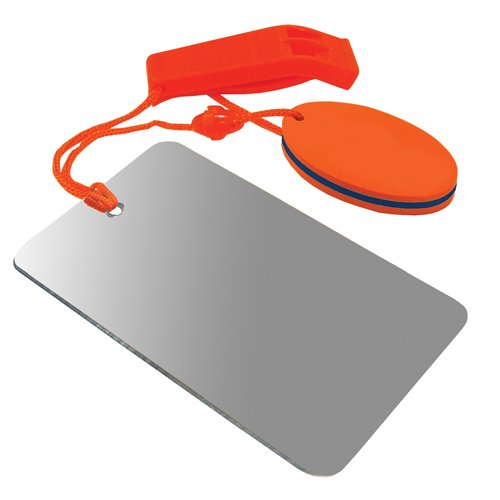 UST Find-Me Signal Mirror & Hear-Me Floating Whistle Combo with Three Wilderness Essentials in One, Including a Signaling Mirror, Emergency Whistle and Orange Float; Great for Camping, Backpacking and Survival