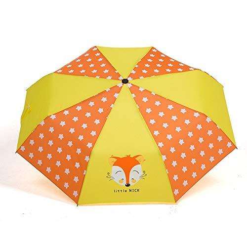 KBWL Cartoon Gedruckt Regenschirme Kinder Kinder Regenschirm 8 Rippen Taschenschirme Für Jungen Mädchen Im Freien Regen Getriebe Schokolade