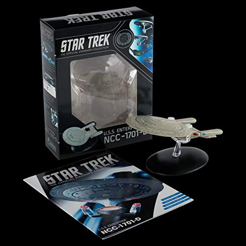 Eaglemoss Star Trek Figur USS Enterprise NCC-1701-D Hero Collector 14x6,5x10cm