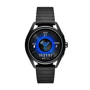 Emporio Armani Connected – Smartwatch con pantalla táctil, Negro