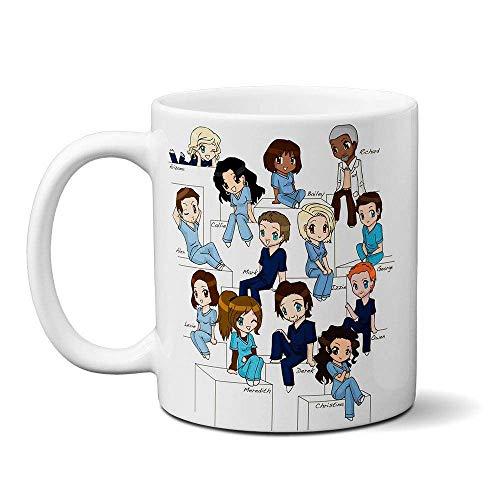 Caneca Grey's Anatomy Personagens - cartoon