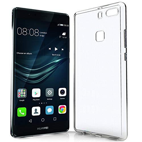 N NEWTOP Cover Compatibile per Huawei P9 Plus, Custodia Morbido TPU Clear Gel Silicone Trasparente Slim Sottile Back Case Posteriore