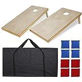 ZENY Portable Wood Cornhole Set Bean Bag Toss Game Set Regulation Size...