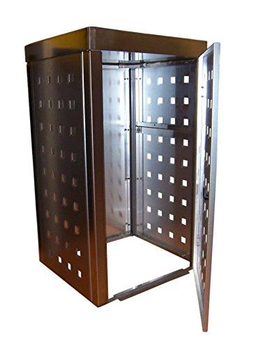 Mülltonnenbox Edelstahl, Modell Eleganza 240 Liter als Zweierbox mit Pflanzwanne - 2
