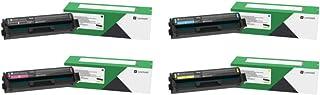 Lexmark C3210C0, C3210K0, C3210M0, C3210Y0 CMYK 4-Color Return Program Toner Cartridge Set for C3224, C3326, MC3224, MC322...