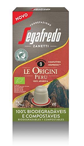 Segafredo - Perú Organic - Caja de 10 Cápsulas Compostables Compatibles con Nespresso