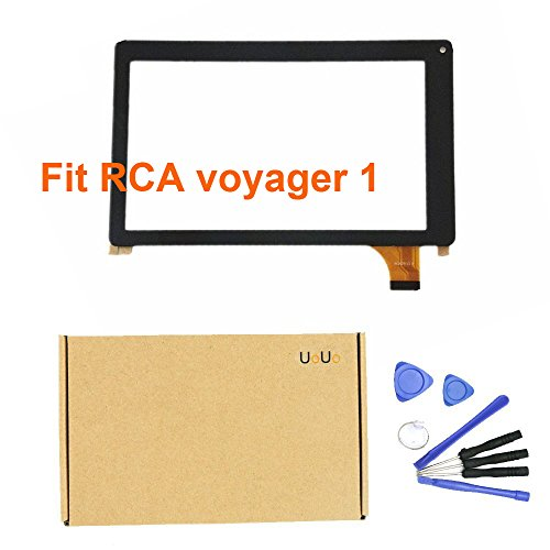 UoUo For RCA voyager RCT6773W22 7' Tablet PC New Touch Screen Digitizer Glass Panel replacement