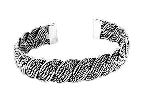 TreasureBay - Bracciale rigido da donna in argento Sterling