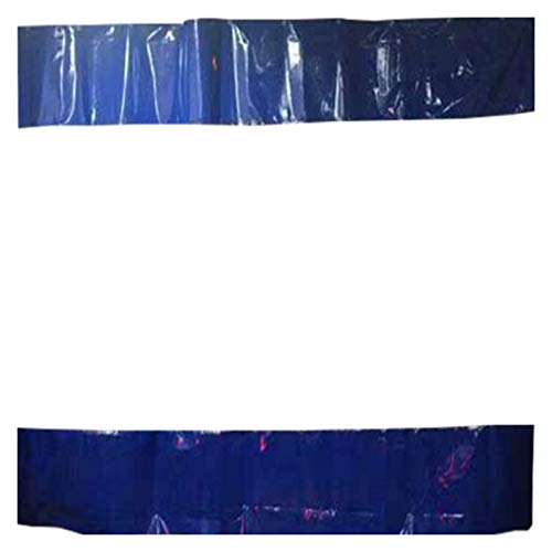 LSXIAO Outdoor Transparent Curtain, Windproof Panel Curtain, Plastic Splicing Tarp with Rustproof Grommets Not Including Track for Balconies, Terrace, Pergola, Garage