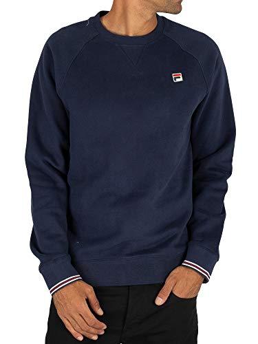 Fila Herren Pozzi Sweatshirt, Blau, S