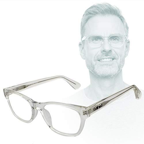 Edison & King Lesebrille Endless – Moderne Kunststoffbrille entspiegelt – gehärtet – aus Acetat (Transparent, 2,00 dpt)