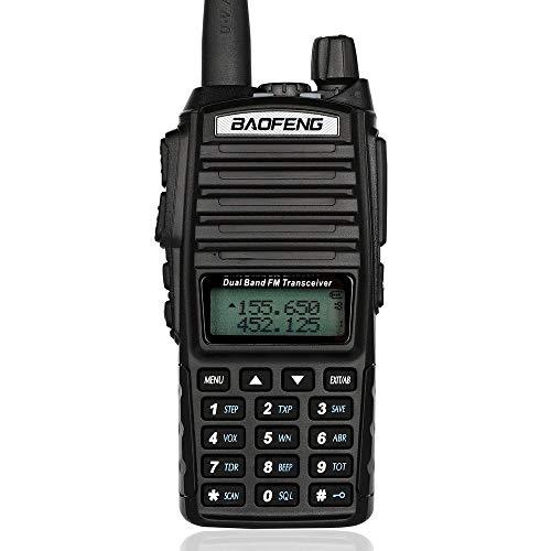 Baofeng UV82 walkie Talkie Mayor Radio de Dos vías UV-82 Portable jamón Doble Banda VHF UHF Familia Receptor portátil...