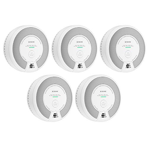 X-Sense 2-in-1 Smoke and Carbon Monoxide Detector Alarm (Not Hardwired), 10-Year Battery-Operated Dual Sensor Fire & CO Alarm, Compliant with UL 217 & UL 2034 Standards, SC06, Pack of 5