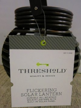 Threshold Dark Brown Solar Round Basket Lantern (Pvc) 8 by Threshold