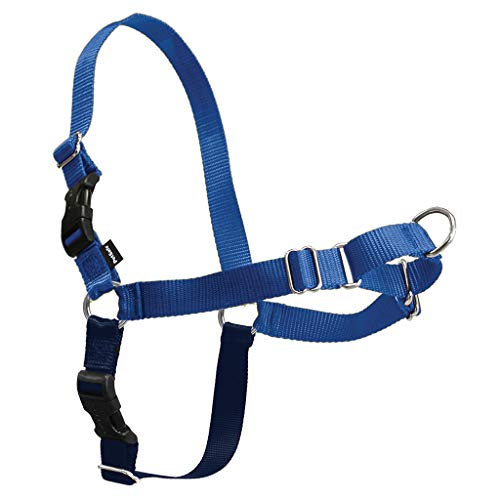 PetSafe Easy Walk Dog Harness, No Pull Dog Harness, Royal Blue/Navy Blue, Small/Medium