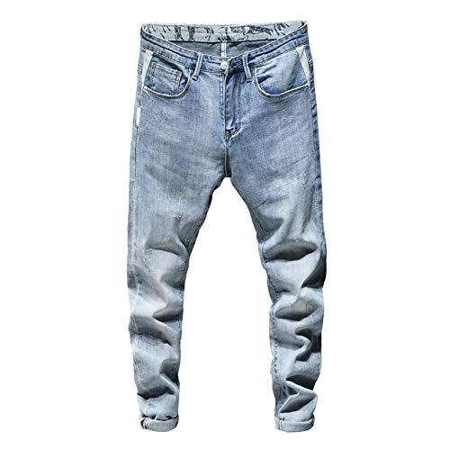 Vaqueros para Jeans Pantalones Pantalones Vaqueros Ajustados para Hombre Pantalones Vaqueros Elásticos De Color Azul Claro Gris Pantalones Vaqueros Casuales De Moda De Calidad De M