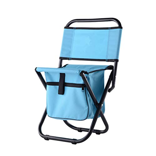 LIOOBO Portabl Fishing Chair Taburete Plegable Taburete de Camping Silla Plegable para...