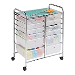 Ideal storage for home, classroom, crafts or art studios Semi-transparent large storage drawers for easy viewing Locking wheels provide maneuverability and stability when needed Can function as an additional workspace Assembly tools and instructions ...