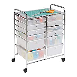 12 Drawer Chrome Studio Organizer Cart