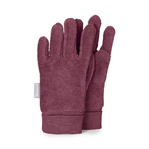 Sterntaler Fleece-Fingerhandschuhe mit elastischem Umschlag, Alter: 2-3 Jahre, Größe: 2, Lila