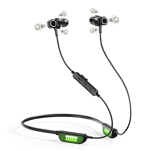 AS Triple Driver Earphones,6D Sound High End Sport Earbuds Noise Isolating Deep Bass in Ear Earphones with Microphones