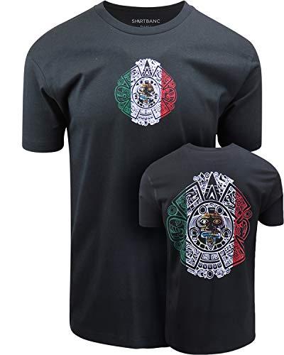 ShirtBANC Mayan Calendar Shirt Maya Nation Aztec Calendar Tee Mexico Pride Shirt (Mayan Calendar Mexico Flag, XL)