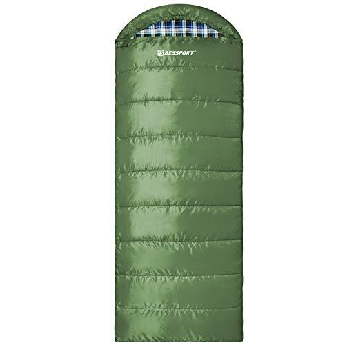 Bessport Schlafsack Winter Erwachsene, 5℃ Warm Deckenschlafsack 3-4 Jahreszeiten, Outdoor Schlafsack Wasserdichter & Ultraleicht für Camping, Trekking und Reisen