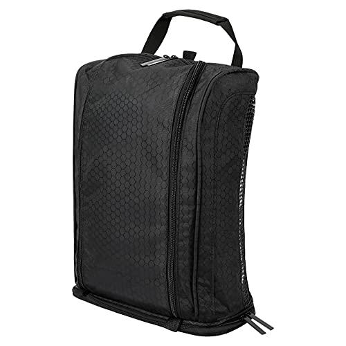 icyant Laelr Sac à chaussures de golf pour homme et femme, sac à chaussures portable pour voyage, grande capacité, respirant, noir