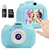 Kids Camera, 30MP Digital Camera for Kids Gifts, 3 Inch HD Touch Screen 1080P Digital Video Camera for Kids 3-10 Year Old Boys Girls with 32GB SD Card, SD Card Reader 2020 Upgraded (Blue)