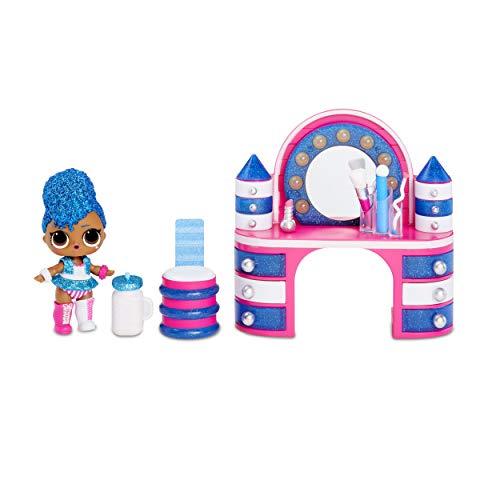 L.O.L. Surprise! Furniture 564942E7C, pacchetto Backstage con bambola Regina Indipendente e oltre 10 altre sorprese, multicolore