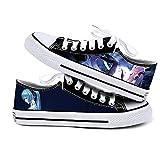 NIEWEI-YI Hatsune Miku Anime Zapatos De Lona Hombres Mujeres Zapatos Casuales Zapatos De Viaje Al Aire Libre,43 EU