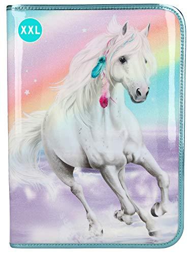Depesche Lyra Miss Melody 11063 - Estuche XXL con lápices (28 x 20 x 4 cm), Color Turquesa