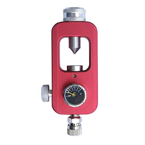 Gurlleu Scuba DIN Valve Refill Adapter Aluminum Alloy 4500 PSI PCP Paintball HPA Tank Fill Station & Charging System (Red)