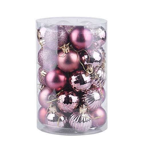 34ct kerstbal ornamenten onbreekbaar kerstversiering kerstballen voor vakantie bruiloft party decoratie, boomversiering haak inbegrepen 1,57