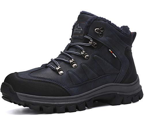 AX BOXING Hombre Botines Zapatos Botas Nieve Invierno Botas Impermeables Fur Forro Aire Libre Boots (36 EU, A7445-Amarillo)