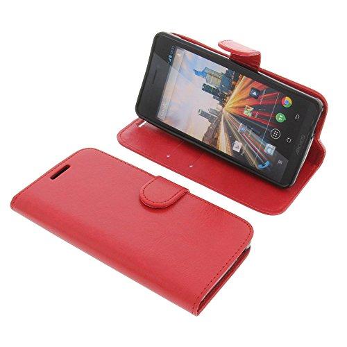 foto-kontor Tasche für Archos 50 Helium 4G Book Style Schutz Hülle Buch rot