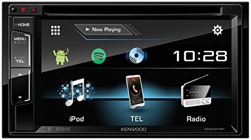 Kenwood ddx317BT - Receptor multimedia de 15,7 cm de doble DIN, de monitor VGA, Módulo con Bluetooth y radio digital negro