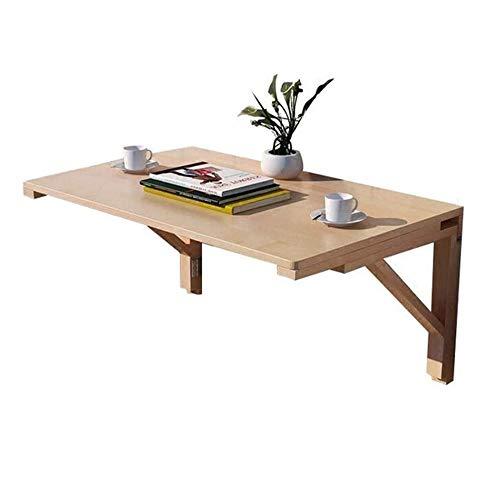 ZROSJDLO Tablas de mesa plegable de pared de comedor Mesa de madera maciza Mesa de comedor for el espacio pequeño, montado en la pared plegable del escritorio del ordenador pared aprendizaje de alas a