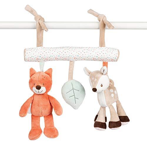 Nattou Spielzeug zum Aufhängen Fanny und Oscar mit Rassel, 24 x 4 x 15 cm, Weiß/Beige