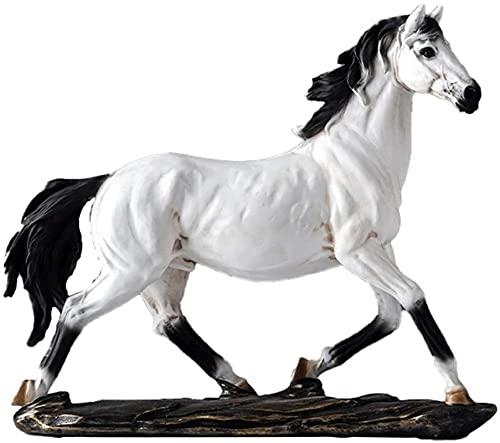 LULUDP Sculpture ZEN Statuecollectible Figurines Cavallo Sculture e statue Feng Shui Figurine Ornamenti Decorazione Desk Scrivania Tavolo da scrivania Vino Armadio Armadio regalo Black Colible Figurin